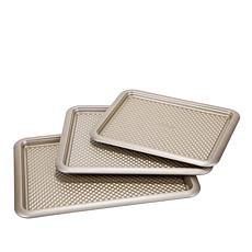 Art and Cook Baker's Kraft Nonstick 3-piece Quilted Sheet Pan Set