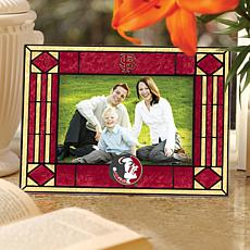 Art Glass Horizontal Photo Frame - Florida State Univ