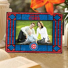 Art Glass Horizontal Picture Frame - Chicago Cubs
