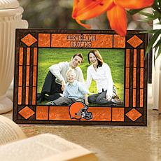 Art Glass Horizontal Picture Frame - Cleveland Browns