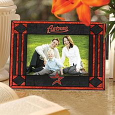 Art Glass Horizontal Picture Frame - Houston Astros