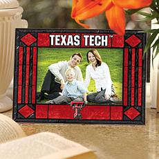 Art Glass Horizontal Picture Frame - Texas Tech
