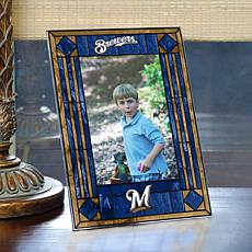 Art Glass Team Photo Frame - Milwaukee Brewers - MLB
