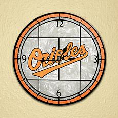 Art Glass Wall Clock - Baltimore Orioles