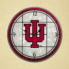 Art Glass Wall Clock - Indiana University