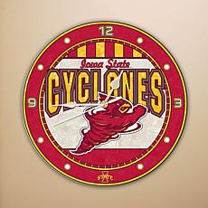 Art Glass Wall Clock - Iowa State University