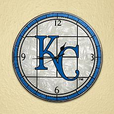 Art Glass Wall Clock - Kansas City Royals