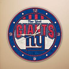 Art Glass Wall Clock - New York Giants