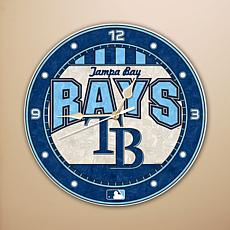 Art Glass Wall Clock - Tampa Bay Rays