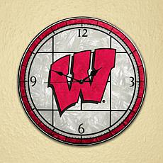 Art Glass Wall Clock - University of Wisconsin