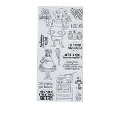 Art Impressions Clear Stamps Whisk It 15-piece Set