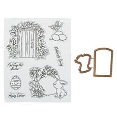 Art Impressions Mini TryFold 9-piece Celebrate Spring Stamp & Die Set
