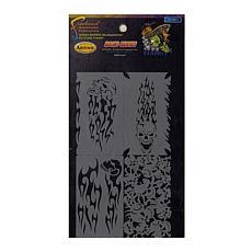 "Artool Skullophenia Nano Series Templates Card of 4 2"" x 3.5"" Stencils"
