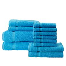 """As Is"" 12-Piece 100% Turkish Cotton Towel Set"