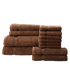 """As Is"" 12-Piece 100% Turkish Cotton Towel Set"