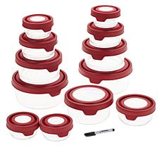 """As Is"" Anchor Hocking TrueSeal 24-piece Glass Food Storage Set wit..."