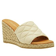 """""""As Is"""" André Assous Annalise Quilted Leather Espadrille Wedge"""
