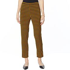 """As Is"" Antthony Crystal Couture Houndstooth Pull-On Pant"