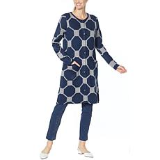"""""""As Is"""" Antthony Crystal Couture Octagonal Jacquard Sweater Coat"""