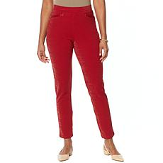 """As Is"" Antthony Crystal Couture Sparkle Knit Boss Lady Pant"