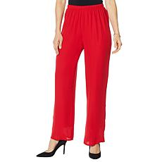 """As Is"" Antthony Lined Chiffon Straight-Leg Pant"