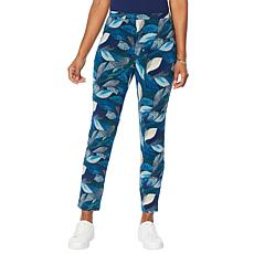 """""""As Is"""" Antthony Printed Pull-On Straight-Leg Pant"""