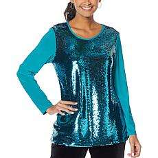 """""""As Is"""" Antthony """"Ready, Set, 60!"""" Sequined Tunic"""