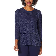 """As Is"" Antthony Textured Knit 3/4-Sleeve Shrug"