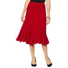 """As Is"" Antthony ""Twilight Collection"" Spiral-Seamed Crepe Skirt"