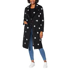 """As Is"" Avec Les Filles Double Face Star-Print Raglan Coat"