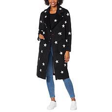 """""""As Is"""" Avec Les Filles Double Face Star-Print Raglan Coat"""