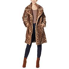"""""""As Is"""" Avec Les Filles Faux Fur Bunny Knee-Length Coat"""