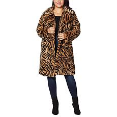 """As Is"" Avec Les Filles Faux Fur Bunny Knee-Length Coat"