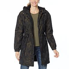 """As Is"" Avec Les Filles Faux Sherpa Lined Star Camo Anorak"