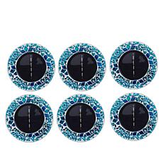 """""""As Is"""" Bell + Howell Mosaic Solar Disk Lights 6-pack"""