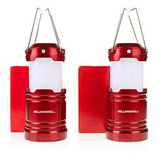 """""""As Is"""" Bell + Howell Pop-up Flame TacLantern 2-pack with Soft Light"""
