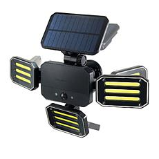 """""""As Is"""" Bell + Howell Solar Bionic Floodlight Deluxe with Remote"""