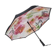 """As Is"" BetterBrella Automatic Open Reverse Umbrella with Lighted H..."