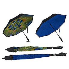 """As Is"" BetterBrella Deluxe Reverse Open and Close Umbrella 2-pack"