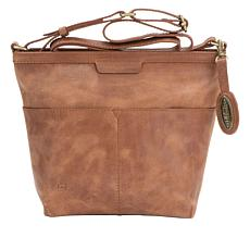 """As Is"" Born® Fortana Leather Crossbody Bag"
