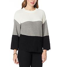 """""""As Is"""" Brittany Humble Colorblock Sweater"""