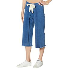 """""""As Is"""" Brittany Humble Lace-Up Wide-Leg Cropped Jean"""