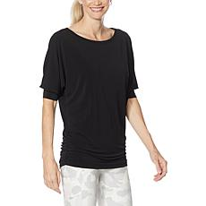 """As Is"" Brittany Humble Ruched Side Dolman-Sleeve Top"