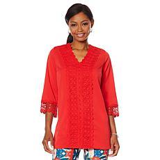 """As Is"" Caya Costa Crochet Trim Tunic"
