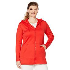 """As Is"" Caya Costa Zip-Front Sun Hoodie with UV Protection"