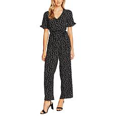 """As Is"" CeCe Ditsy Floral Belted Jumpsuit"