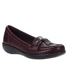 """As Is"" Clarks Ashland Bubble Leather Slip-On Loafer"