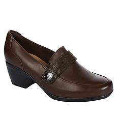 """As Is"" Clarks Collection Emily Andria Leather Loafer"