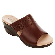 """""""As Is"""" Collection by Clarks Lynette Trudie Leather Wedge Sandal"""