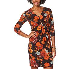 """""""As Is"""" Colleen Lopez 3/4-Sleeve Cinched Twist Front Dress"""